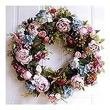 Hermosa 53cm de la puerta de la guirnalda grande de la guirnalda de la flor artificial de la guirnalda de colgar de la pared decoración de la puerta la decoración del hogar decoración granja Noche
