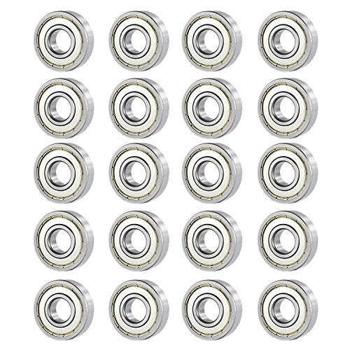 Donepart 683ZZ Ball Bearings, 3mm Bore ID, 7mm OD, 3mm Width Steel Shielded Miniature Deep Groove Bearings (20pcs)