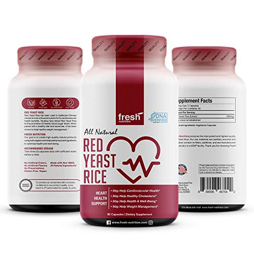 Red Yeast Rice - Strongest DNA Verified - Cholesterol, Cardiovascular Health, Weight Management, Well Being - Cholesterol Lowering Supplement – Red Yeast Rice Extract Powder - Vegan Friendly