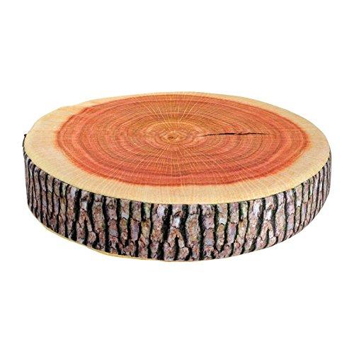 """Sitzkissen Baumstamm, ein echter Hingucker, angenehmer Sitzkomfort durch hochwertigen Schaumstoff, dekorative """"optische Täuschung"""""""