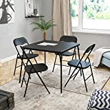 Flash Furniture 5 Piece Black Folding Card Table and Chair...