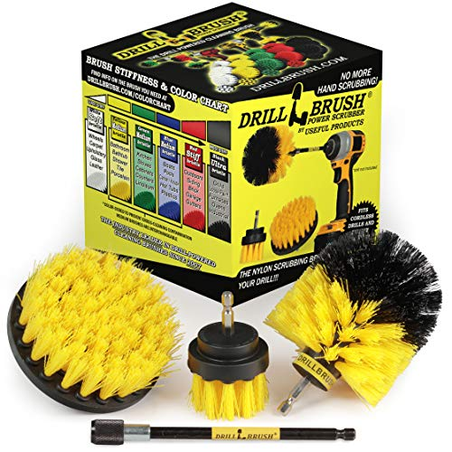 Drill Brush Power Scrubber Brush Set – Drill Brush Kit with Extension - Drill Brushes for Cleaning Bathroom Accessories – Drill Brush Attachment - Bathroom Cleaner - Grout Cleaner – Drill Scrub Brush
