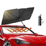 Car Windshield Sun Shade Umbrella Foldable Sun Shade Car Sun Visor Protector Reflector, Fit Most Vehicle (57 x 31 in)