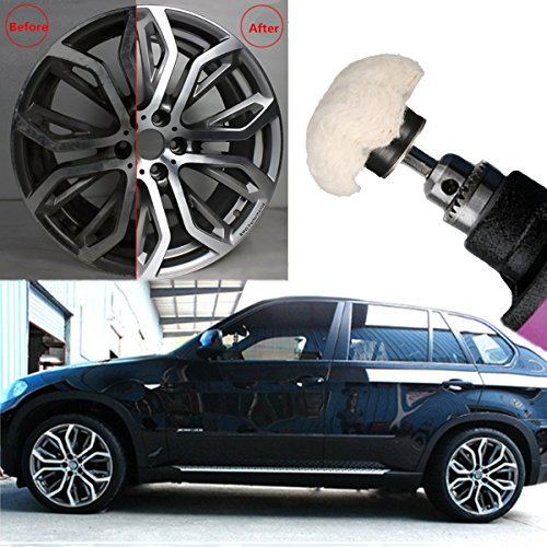 MATCC Polishing Wheel For Drill Polishing Pad Buffing Wheel Kit Wheel Polisher Buffing for Drill 4Pcs White Flannelette Polishing Mop Wheel Grinding Head with 1/4