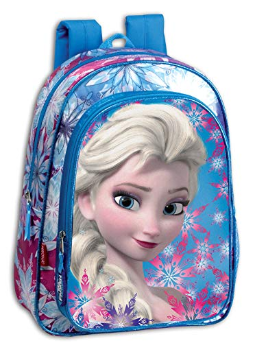 PERONA 52383 Mochila Infantil Frozen Crystal, Azul/Rosa, Único