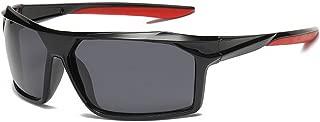 GLJJQMY Sports Polarized Sunglasses Outdoor Riding Glasses Male UV Protective Sunglasses Sunglasses (Color : Black)
