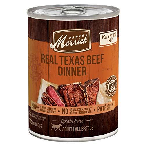 Merrick Grain Free Wet Dog Food Real Texas Beef Recipe - (12) 12.7 oz Cans