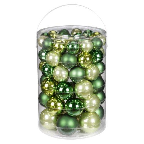 Inge-glas 1782E460 - Palle di Natale Mix Christmas-Green, 60 Pezzi, 4/5/6/7 cm