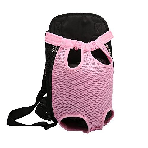 YOUJIA Masche Haustier Rucksäcke Hundetragetasche, Hund Katze Transporttasche Carrier Tasche Vorne Brust Rucksack (S, Pink)