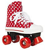 Rookie Canvas High Polka Dots, Rollschuhe Unisex Kinder, Canvas High Polka Dots, rot/weiß