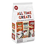 HERSHEY'S All Time Greats White Chocolate Candy, Snack Size Variety Mix, 32.60 Ounce