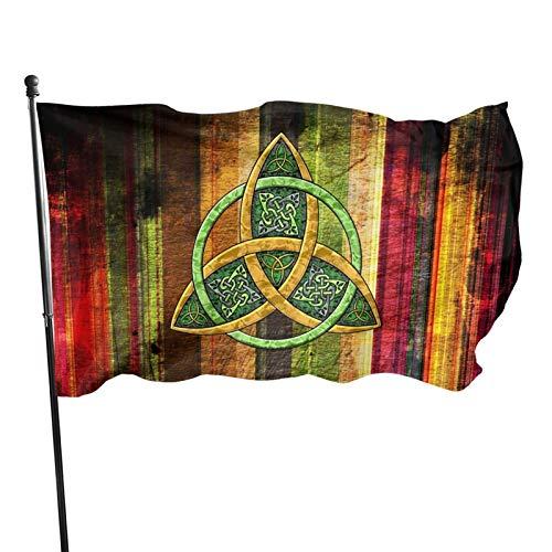Celtic Trinity Knot - Irish Flag 3x5 FT Outdoor Banner Garden House Home Decor Flag Fade Resistant