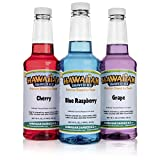 Hawaiian Shaved Ice F140 Snow Cone Syrup, Pack of 3