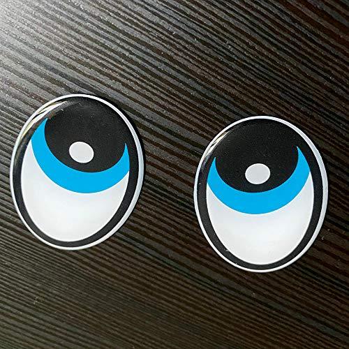 Robot cortacésped ThermoMix, diseño de ojos en 3D, color azul