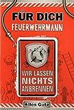 Karte zum Geburtstag'Feuerwehrmann' mit Magnet, B6 + Umschlag