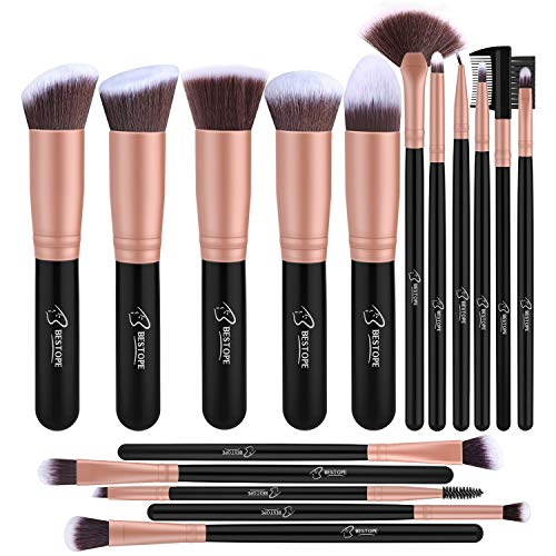 Pennelli Make up Professionale BESTOPE Set di 16 Pennelli per il Trucco...