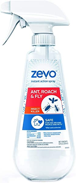 Zevo Ant Roach Fly Mosquito Multi Insect Killer Repellent 12Oz Trigger Spray Indoor Outdoor Use Pet People Friendly Safe