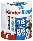 kinder Riegel - 5 Vorratspacks mit jeweils 18 Riegeln, einzeln verpackt, Schokoriegel mit feinem Milchkern umhüllt von zartschmelzender Vollmilchschokolade