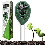 Dooppa Testeur de sol 3 en 1, humidificateur de sol, testeur de lumière et d'acidité PH Kit de testeur de sol pour jardin ferme, pelouse, intérieur et extérieur