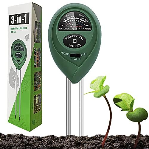 Dooppa Soil PH Tester 3 in 1, Soil Testing Kit Plant Care with...