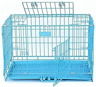 """42"""" Big Double Door Folding Metal cage with Removable Tray and paw Protector for Dogs,Cats and Rabbits 106 x 76.5 x 83.5 c..."""