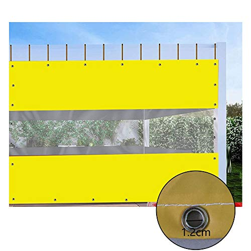 GDMING Transparent PVC Tarpaulin, Extra Thick Weather Resistant Outdoor Clear Waterproof Curtain With Grommet, Garden Furniture Covers, Custom Size (Color : Clear, Size : 3x7m)