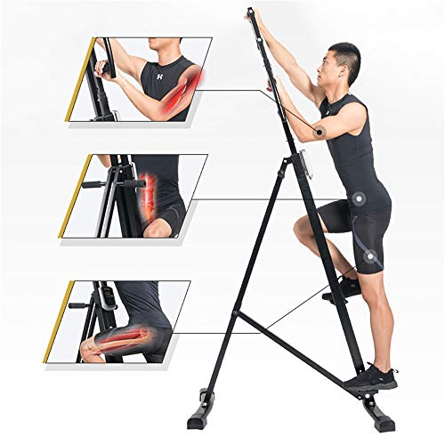 HUIHUAN Klappbarer Vertical Climber Heimtrainer Stepper Cardio Workout Trainingsgriffe Beine Arme Abs Wade