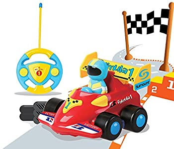 Cartoon R/C Formula Race Car Radio Control Toy by Liberty Imports  Assorted Colors