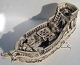 Deko Aquarium Boot XXL Höhle Wrack Fische Keramik Dekoration Schiff groß Neuware - 2