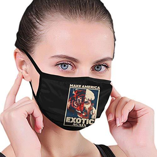 Joe Exotic Tiger King Gesicht Mundschutz Schützen Sie Bequeme atmungsaktive Sicherheit Luftnebel Outdoor Fashion Half Face Shield - für Mann und Frau