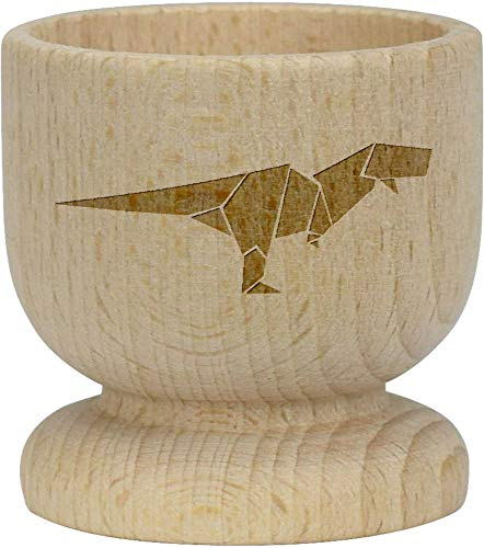 Azeeda 'Origami Dinosaurier' Hölzerner Eierbecher (EC00004292)