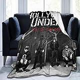 LJPJQKPYF Hollywood Undead Day of The Dead Picnic Blanket Ultra-Soft Micro Fleece Blanket Funny 50'x40'
