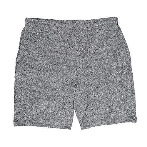 Pantalones resistentes al desgaste, pantalones cortos cómodos grises resistentes al desgaste para hombres, reparador de trabajador eléctrico informal anti-cortes para soldador(L)