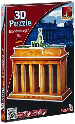 Simba 106137412 - Puzzle 3D de la Puerta de Brandenburgo, Berlín [Importado de Alemania]