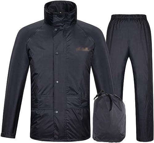 LLHY Costume imperméable, Split Adultes Hommes et Femmes imperméable imperméable Pantalon de Pluie Coupe-Vent Double épaisseur Poncho Yuyi (Couleur   Dark bleu, Taille   XL)