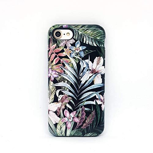 Fiori Floreale Foglie Tropicale cover case custodia per iPhone 5, 5s, SE 2016, 6, 6s, 7, 7 plus, 8, 8 plus, X, XS, 11, per Galaxy S6, S7, S8