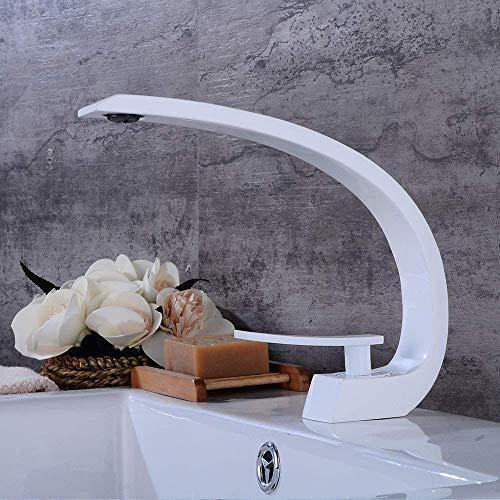 PLEASUR Weit verbreiteter Hochwaschbecken-Mischbatterie für Waschbecken mit Waschbecken Monoblock-Wasserhahn aus massivem Messing Einhand-Waschtischarmatur mit einem Loch