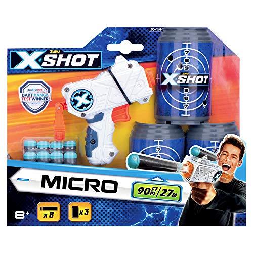 Grandi Giochi-Gg46017-X-Shot Blister Micro Pistola con Dardi, Multicolore, GG46017