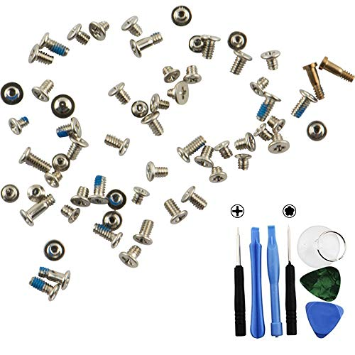 Sostituzione Full Screws Set Compatibile con iPhone 6 - Argento/Bianca Screw Gold Bottom Pentalobe Screws+ Kit di Strumenti