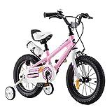 RoyalBaby bicicletta per bambini ragazza ragazzo Freestyle BMX bicicletta bambini bici per bambini 14 pollici rosa