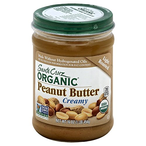 Santa Cruz Organic Peanut Butter, Light Roasted, Creamy, 16 Ounces
