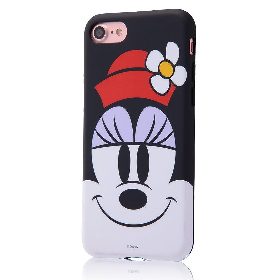 バルコニー取るしばしばイングレム iPhone 7 ディズニー TPUソフトケース クローズアップ/ミニー IN-DP7H/MN