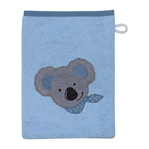 Wörner Gant de toilette 15 x 21 cm GOTS drap de bain bébé, bleu clair