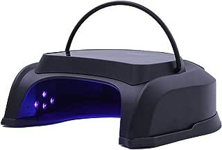 Lithium Battery Charging Nail Dryer Metal Shell 64w Timing Sensor Phototherapy Lamp Digital Display Nail Lamp 110/220v,Black