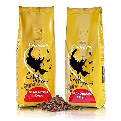Consuelo Italienischer Caffè Gran Aroma - ganze Bohnen, 2 x 500 g