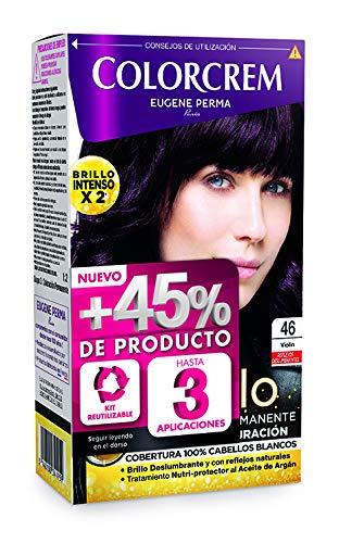 Colorcrem Color & Brillo - Tinte permanente mujer - Tono 46 Violin, con tratamiento nutri-protector al aceite de Argán. + 45% de producto | Disponible en más de 20 tonos.