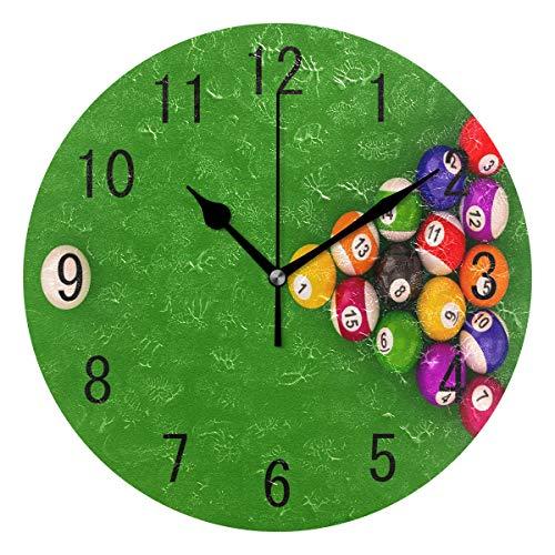 Use7 Home Decor Billard Ball Runde Acryl Wanduhr, Nicht tickend, geräuschlose Uhr, Kunst für Wohnzimmer, Küche, Schlafzimmer