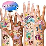 Konsait Tatuajes Temporales para Niños Niñas, Sirena Tatuajes Infantiles Tatoos Tatuajes...