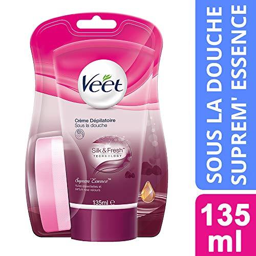 Veet Crème Dépilatoire Suprem'Essence aux Huiles Essentielles - Sous la Douche - 135 ml
