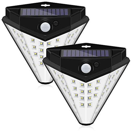 Homejuan zonne-sensor met 32 leds, voor buiten, tuinverlichting, waterdicht, 2 stuks